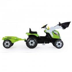 Трактор на педалях з причепом і ковшом Smoby Farmer Max