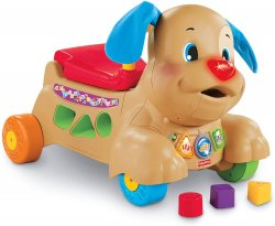Fisher-Price Каталка-ходунки штовхачі Веселий Щеня