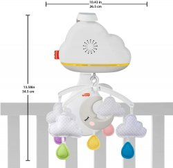 Мобайл Fisher-Price Заспокійливі хмарки з ефектами